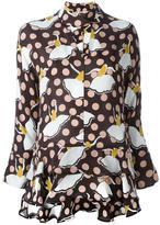 Marni pirouette print blouse - women - Silk - 42