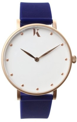 Ksana Sapphire Blue & Rose Gold Vegan Watch - 38mm