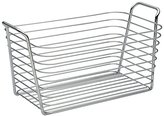 InterDesign Classico Wire Storage Organizer Basket for Bathroom, Bath Towels, Heath and Beauty Products - Medium, Chrome