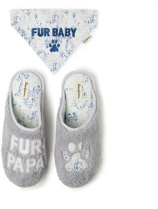 """Dearfoams Men's Fur Papa"""" Faux Fur Clog Slippers"""