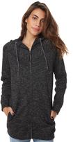 Volcom So Much More Womens Long Line Tuniz Zip Fleece Black