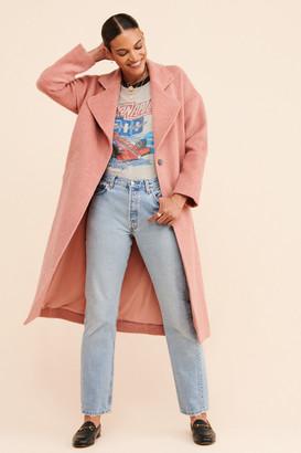 Greylin Dusty Rose Fuzzy Coat