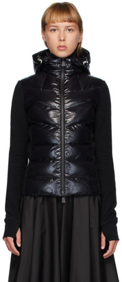 MONCLER GRENOBLE Black Shiny Down Jacket