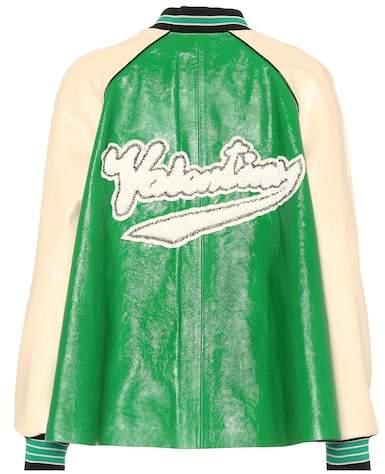 Valentino Embellished leather jacket