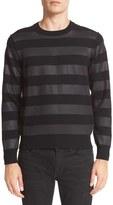 Junya Watanabe Men's Stripe Wool Blend Sweater