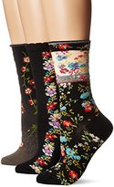 Ozone Women's Novelty Crew Socks 3 Pack