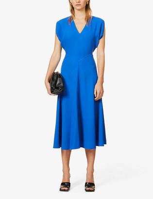 Victoria Beckham Dolman-sleeved stretch-crepe midi dress