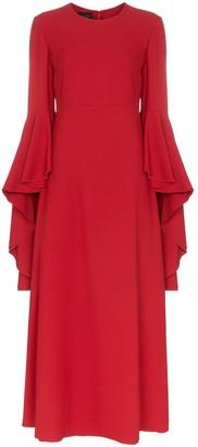 Giambattista Valli ruffle sleeve maxi dress