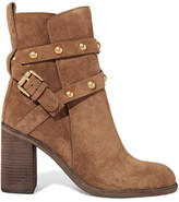 See by Chloe Studded Suede Ankle Boots - Light brown