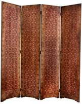 Oriental Furniture Distinctive Four Panel Screen, 6-Feet Tall Italian Design Rococo Style Room Divider Folding Portable Partition
