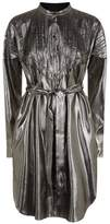 Burberry Metallic Shirt Dress