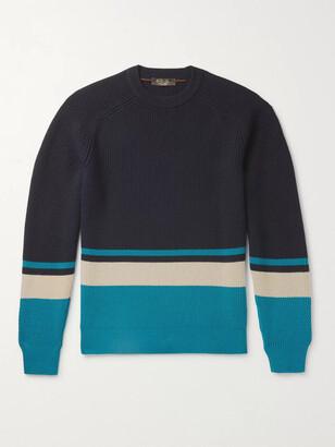 Loro Piana Lexington Striped Ribbed Baby Cashmere Sweater