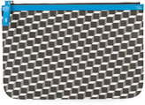 Pierre Hardy geometric print pouch - unisex - Patent Leather/Canvas - One Size