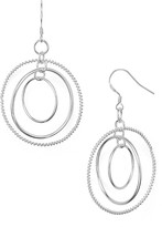 Argentovivo Concentric Drop Earrings