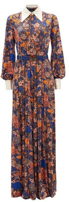MARC JACOBS, RUNWAY Marc Jacobs Runway - Belted Floral-print Jumpsuit - Brown