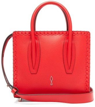 Christian Louboutin Paloma Suede And Leather Shoulder Bag - Womens - Red