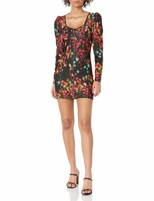 GUESS Women's Long Sleeve Rachel Bustier Mini Dress