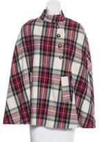 A.P.C. Wool-Blend Button-Up Cape