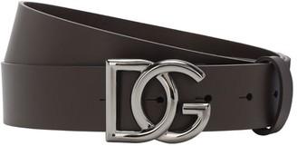 Dolce & Gabbana 35mm Leather Belt W Buckle