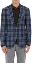 Isaia Men's Deco Wool-Cashmere Two-Button Jacket-BLUE