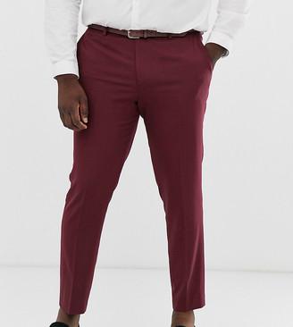 ASOS DESIGN Plus skinny suit pant in burgundy