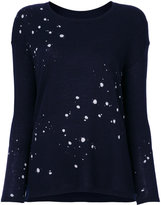 Majestic Filatures splatter print jumper