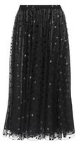 Giamba Embroidered Tulle Skirt