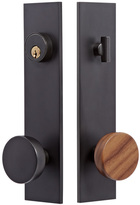 Rejuvenation Tumalo Walnut Knob Exterior Door Set