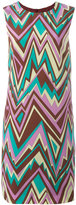 M Missoni zig-zag print shift dress - women - Silk/Polyester - 38