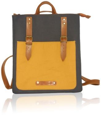 Bonendis City Backpack Cross Body Bi Color Yellow