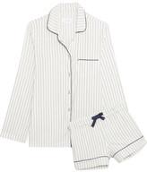 Three J NYC Phoebe Striped Cotton-flannel Pajama Set - large