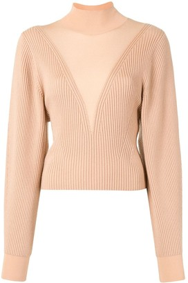Dion Lee Hosiery Ribbed Knit Jumper