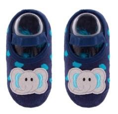 NWALKS Baby Boys and Girls Anti-Slip Cotton Socks with Elephant Applique