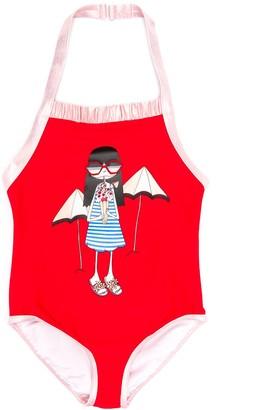 Little Marc Jacobs Cartoon Print Swimsuit