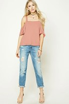 Forever 21 FOREVER 21+ Open-Shoulder Dolman Top