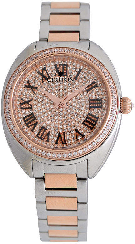 Croton Womens Two Tone Bracelet Watch-Cn207564ttrg