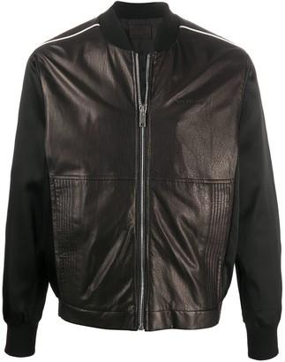 Givenchy Panelled Leather Bomber Jacket