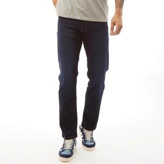 Wrangler Mens Arizona Regular Fit Jeans Blue Stroke
