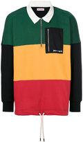 Palm Angels colour-block jumper
