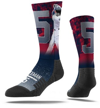 Men's Strideline Freddie Freeman Red Atlanta Braves Full Sublimated Player Crew Socks