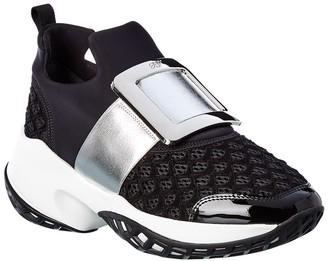 Roger Vivier Viv Run Leather Sneaker
