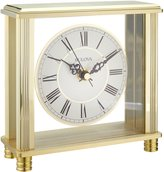 Bulova Home and Office Cheryl Cream Dial Desktop Clock #B1703