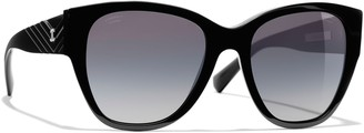 Chanel Polarised Butterfly Sunglasses CH5412 Black/Grey Gradient