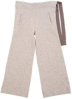 Wool Knit Pants W/ Drawstring
