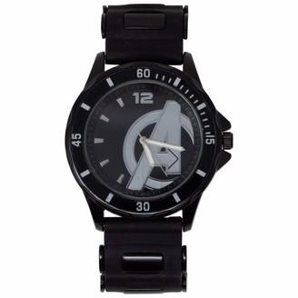 Marvel Men's Alloy Steel Quartz Watch with Rubber Strap