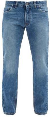 Fendi Stonewashed Straight-leg Jeans - Mens - Blue