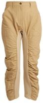 Stella McCartney Tina ruched-leg cropped trousers