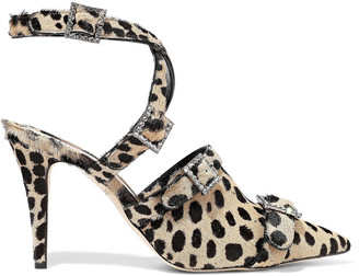 Christopher Kane Crystal-embellished Leopard-print Calf Hair Pumps