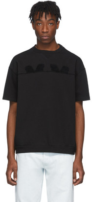 Maison Margiela Black Embroidered Logo T-Shirt