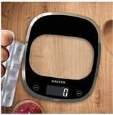 Salter Curve Glass Aquatronic Electronic Digital Kitchen Scale, 1050 Black